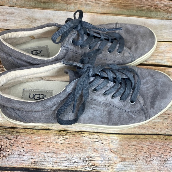 UGG Grey Suede Shoes Size 8.5